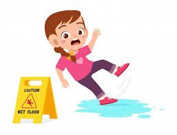 Free Vector | Cute girl falling down cartoon illustration