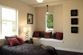 Neutral Wall Colors For Bedroom Bedroom With Built In Bench And Neutral Wall Colors Use Feng