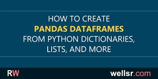 pandas dataframe from dictionary list