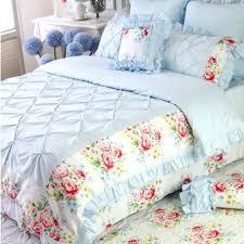 blue ruffle comforter blue pinch pleat puckering ruffle duvet cover set light blue ruffle comforter