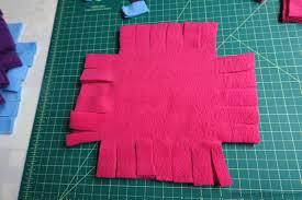 Patchwork No Sew Fleece Blanket Tutorial & no sew tabs Adamdwight.com