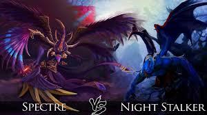 dota 2 spectre vs night stalker one click battle youtube