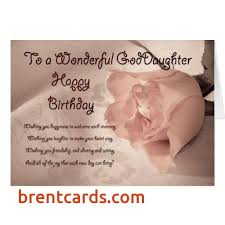 Goddaughter Quotes Beauteous Happy Birthday To My Goddaughter Card Happy Birthday Goddaughter
