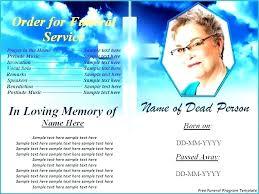 Free Memorial Program Template Editable Funeral Publisher