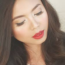 clic red lips and easy eye makeup no eyeshadow makeup tutorial