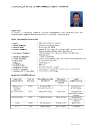 5 Curriculum Vitae Example New Tech Timeline