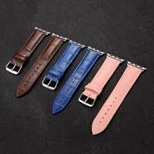 Apple Watch Strap Dây đeo bằng da bò thật cho đồng hồ thông minh Apple Watch  38mm 42mm 40mm 44mm Series 1 2 3 4 5 6 se   Phụ Kiện Thiết Bị Đeo Thông Minh
