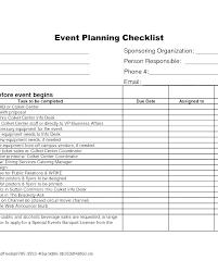 Banquet Checklist Template