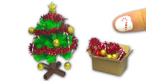 How to make a doll Christmas Tree and Christmas decorations DIY Tutorial -  YolandaMeow - YouTube