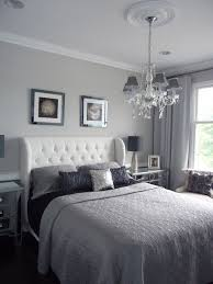 grey and navy bedroom. modern bedroom home staging new jersey, stager, grey, silver, real estate grey and navy