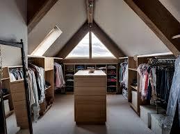Decorations:Adorable Attic Closet Idea With Mirror Wall And Wooden Floor  Ideas Attic Dressing Room