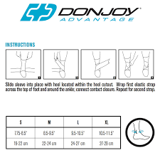 Donjoy Ankle Brace Size Chart Donjoy Advantage Figure 8 Ankle Support