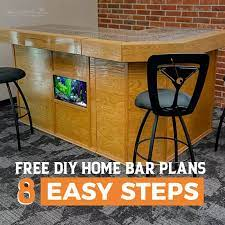 free diy home bar plans 8 easy steps