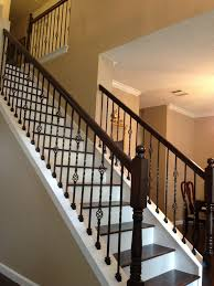 wrought iron baers with wood treads vip services painting improvements