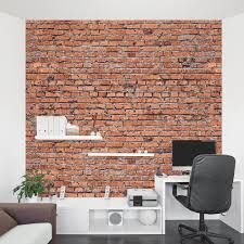 old red brick wall mural crumbling brick wall