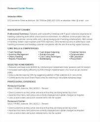 Resume Example Cashier Restaurant Resume Free Word Documents