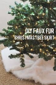 Faux Fur Tree Skirt  Brown Bear  Pottery BarnChristmas Tree Skirt Clearance