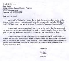 feedback maine military funeral honors program click on image to open letter in a new window image sizes are relatively large slow connections have to wait several minutes for images to fully load