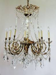 antique french crystal chandelier 6 arms antique french art