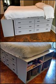 How to build a dresser platform bed from scratch