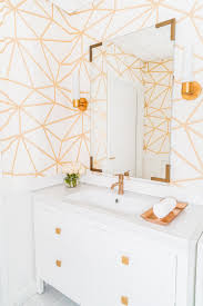 Image Removable Wallpaper Midcentury Wallpaper And Mirror Create An Elegant Bathroom At This Chic Boutique Salon Hgtvcom 15 Beautiful Reasons To Wallpaper Your Bathroom Hgtvs Decorating