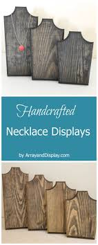Handcrafted jewelry displays made of locally sourced new and reclaimed  wood. Handcrafted in the USA
