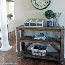 entryway console table. DIY Entryway Console Table O