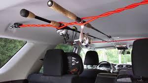 diy car fishing rod rack for 9
