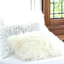 faux mongolian fur rug black s
