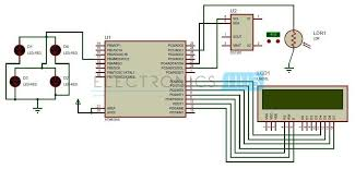 auto intensity control of street lights circuit using microcontroller auto intensity control of street lights circuit diagram