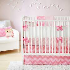 bedroom design pretty mix of gray and pink crib per with zigzag style for modern