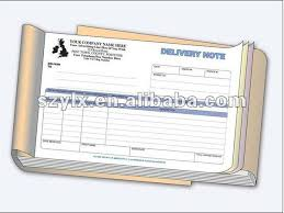 Delivery Order Sample Fascinating 488part A48 Delivery Note Book Printing With Sequential Numbering