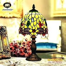 small tiffany style lamps creative small lamp vintage style stained glass bedroom bedside corner table desk small tiffany style lamps