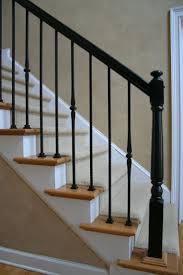 Black Handrails make even a simple stair look elegant.