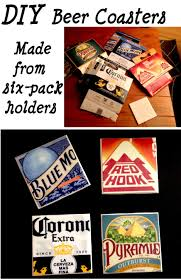 diy beer coasters from six packs perfect t for a boyfriend brother dad