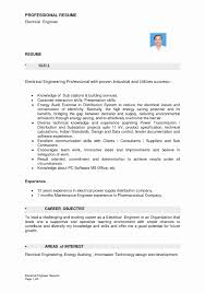 Electrical Technician Sample Resume Resume For Electrical Technician Elegant Electrical Technician 18