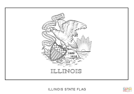 Small Picture Flag of Illinois coloring page Free Printable Coloring Pages