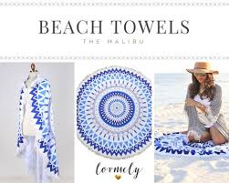 Beach Dream Catchers The Malibu Round towel round beach towel with tassel accent 95