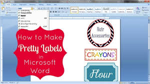 Word 2013 Label Template How To Make Pretty Labels In Microsoft Word