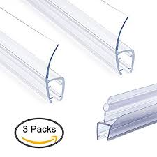 frameless shower door seal strip weather stripping seal sweep with drip rail for 3