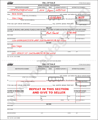 Motorcycle Bill Of Sale Gorgeous How To FillIn A Car Title For Change Of Ownership NeedTags