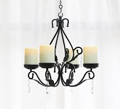 giveu 3 in 1 lighting chandelier metal wall sconce set of 2 table centerpiece for indoor or outdoor chain and candles included black
