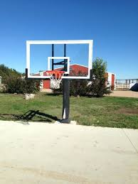 pro dunk hoops. Pro Dunk Hoops Gold Installation Front Shot Of Lowered Platinum Basketball System