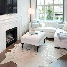 interior architecture glamorous silver cowhide rug on metallic white faux black and white faux cowhide rug