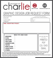 Graphic Design Project Request Form Job Order Form Graphic Design Templates Order Form