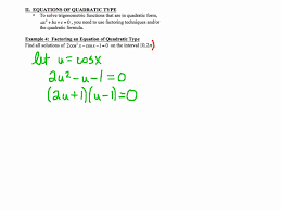 pc 5 3 notes example 4 factoring an equation of quadratic type