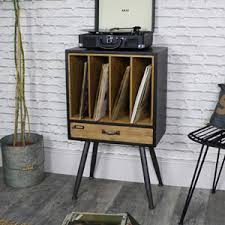 Industrial style furniture Vintage Industrial Retro Style Vinyl Record Storage Cabinet Melody Maison Furniture Old Iron Rustic Industrial Gentleman Melody Maison