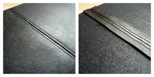 flat stitch for faux leather
