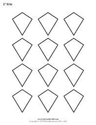 Free Printable Kite Template Printable Kite Template Blank Paper Children Coloring Templates 3