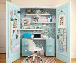 15 closets turned into space saving office nooks with closet computer desk designs 14